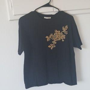 Zara beaded shirt - size-S